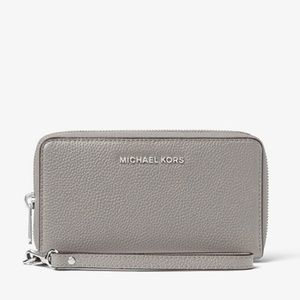 MICHAEL KORS Leather Smartphone Wristlet
